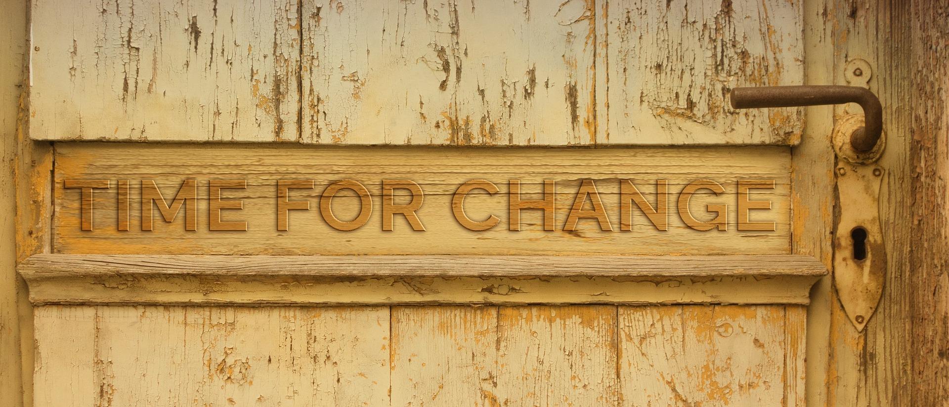 door, change